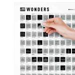 Скретч-постер 100 дел Wonders edition (Невероятные места)