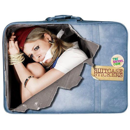 Наклейка на чемодан Стюардесса На чемодане