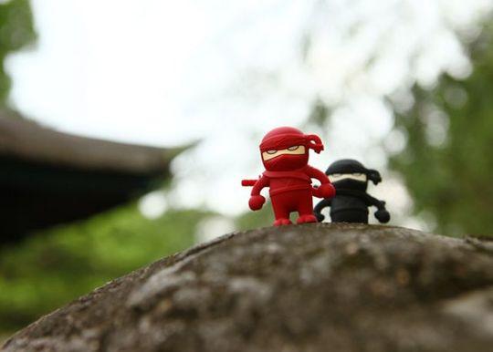 Флешка Ниндзя Красный 4 Гб