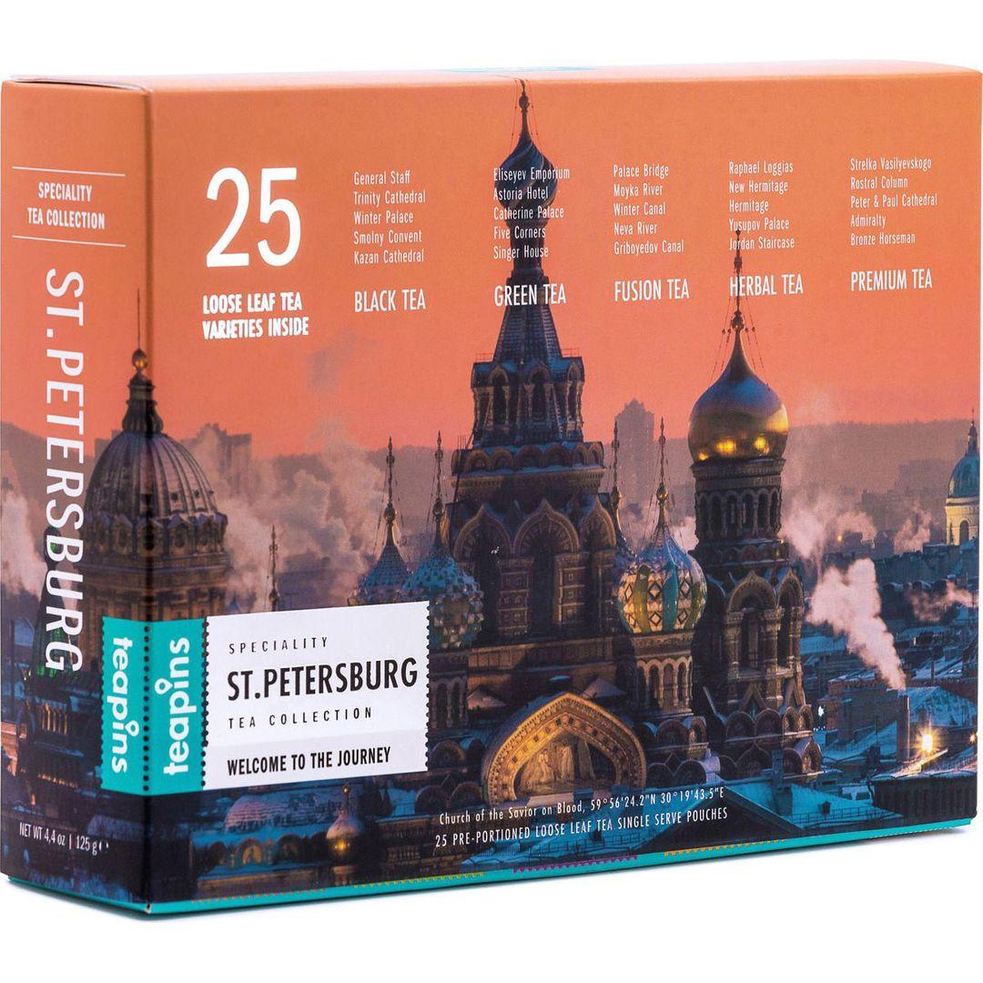 Коллекция листового чая Saint Petersburg Teapins (25 видов, 125 г) от 990 руб