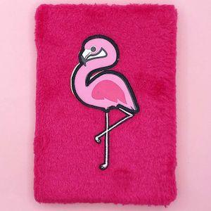 Блокнот плюшевый Розовый фламинго Ping flamingo