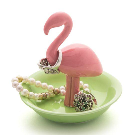 Подставка для колец Розовый фламинго