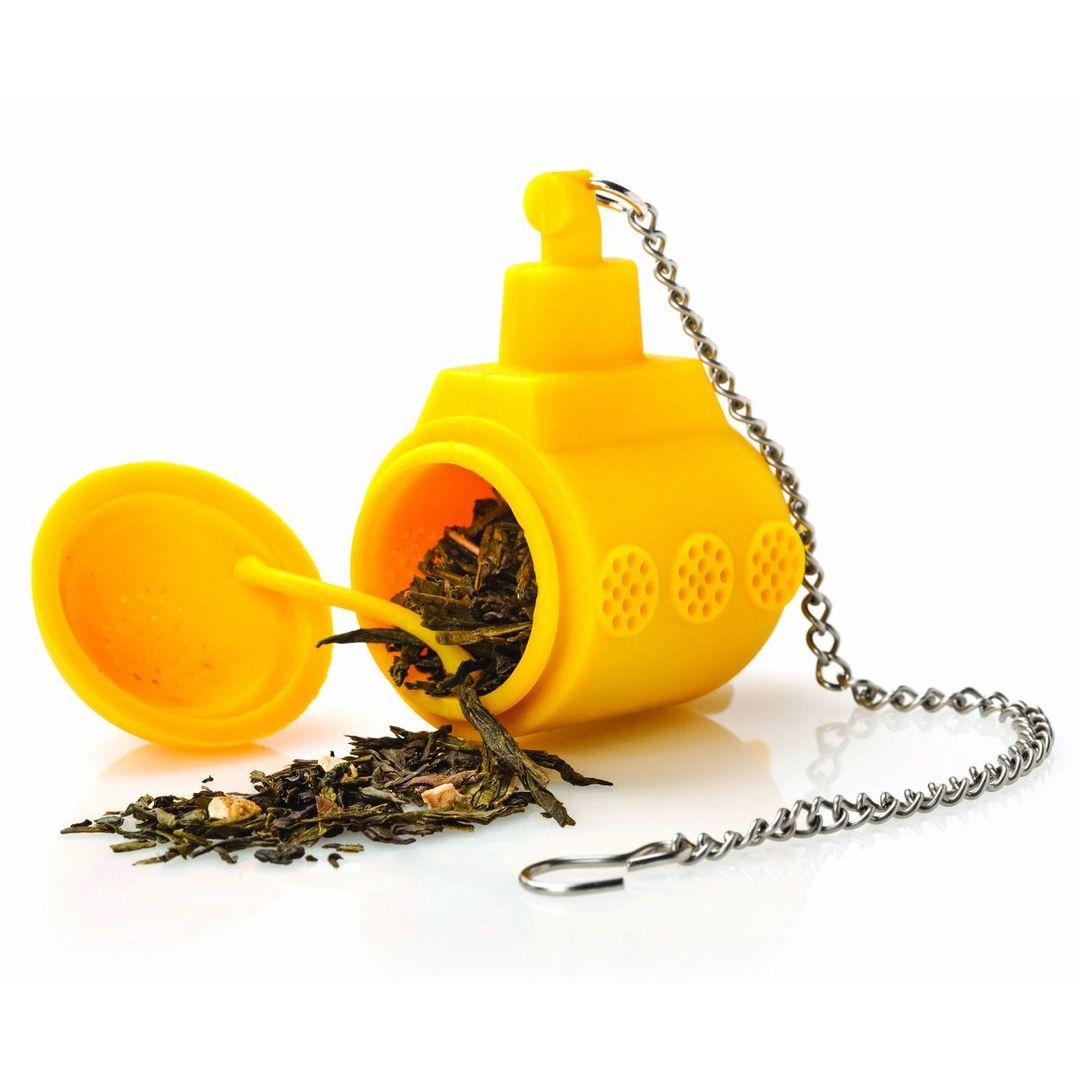 Заварник для чая Подводная лодка (Желтый) Открытый, с заваркой