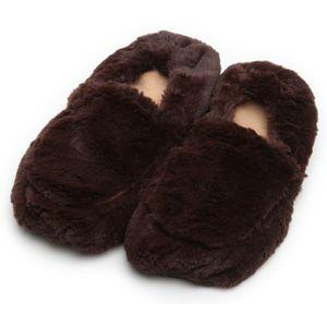 Тапочки-грелки (темно-коричневые)