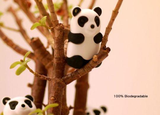 Флешка Панда Белая 4 Гб