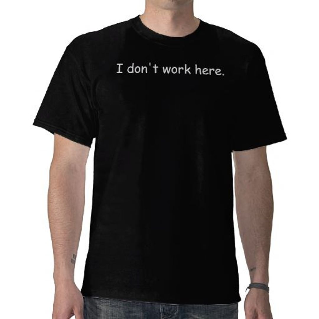 Футболка I don't work here