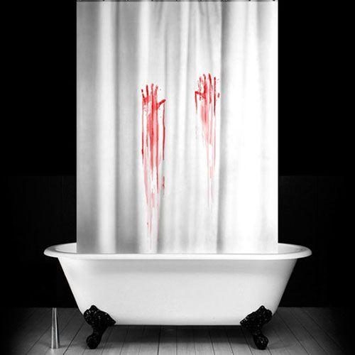 Кровавая занавеска<br>в ванную