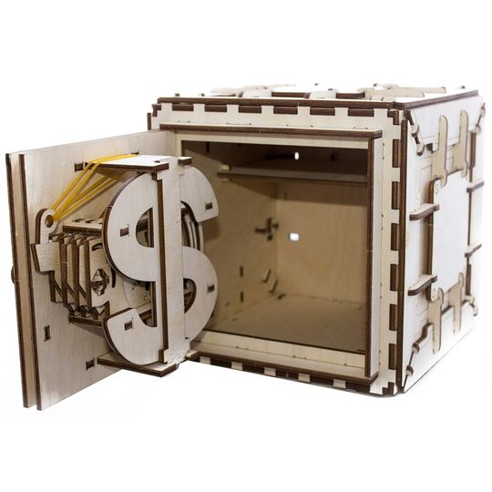 Механический 3D Пазл Ugears Сейф Полностью деревянный