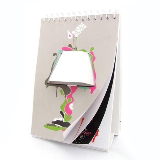 Светильник Блокнот С белым абажуром