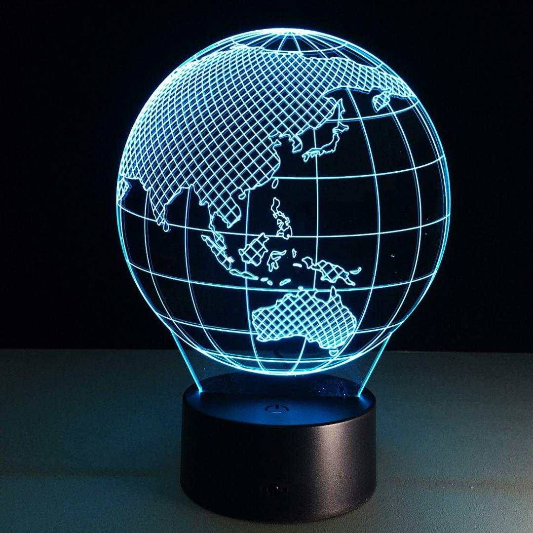 3D Лампа Глобус