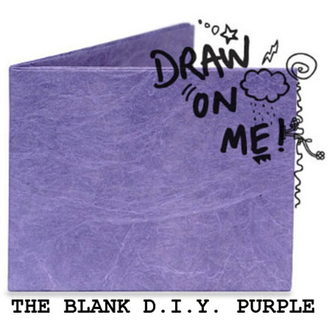 Бумажный Бумажник Mighty Wallet The Blank D.I.Y. Purple