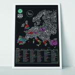 Скретч-карта Европы Гурман Gourmet Scratch Map