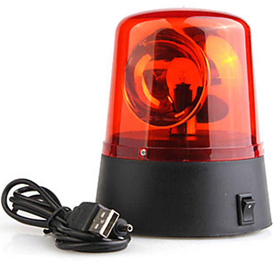 USB Мигалка Police light (Красная) С проводом