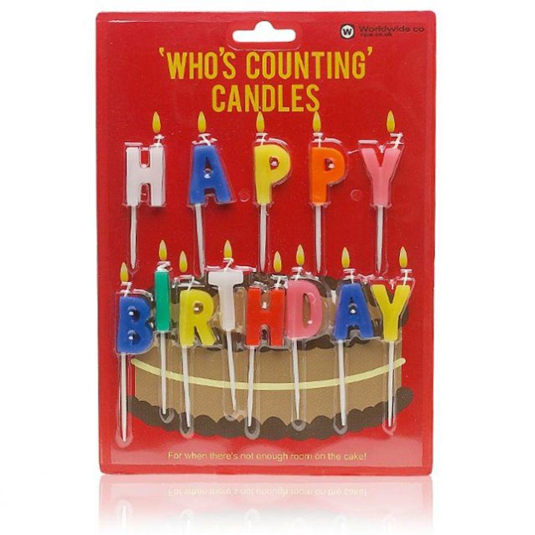 Свечи Happy Birthday