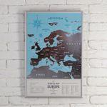 Скрэтч-карта Европы Silver (на английском)