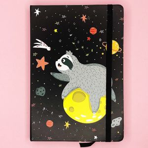 Блокнот Ленивец в космосе Sloth space (А5)