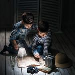 Настольный беспроводной светильник Tiffany